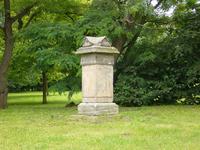Grabstein der letzten Äbtissin Humbelina Schleißner